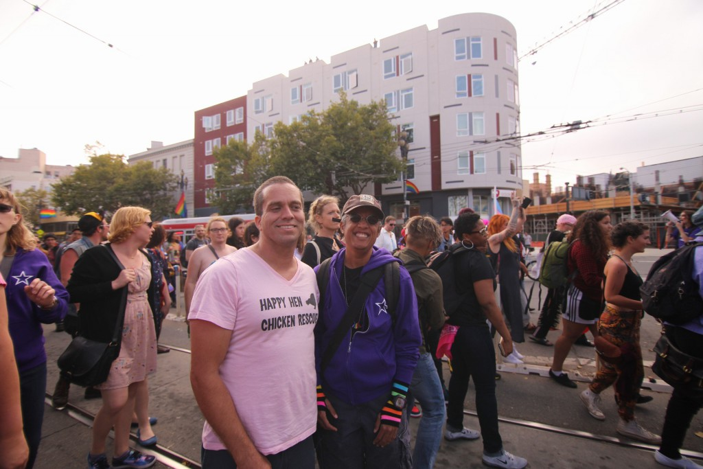 Chris and Pax at the Trans March