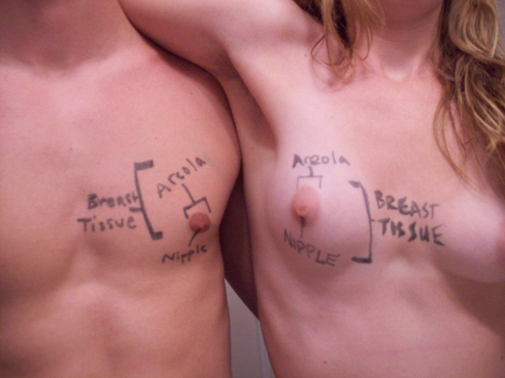 """Male"" and ""female"" breast comparison"