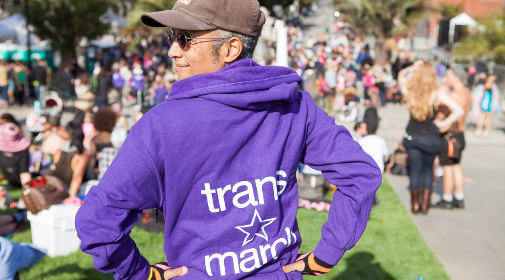 Pax wearing a Trans March hoodie. Photo by Chris
