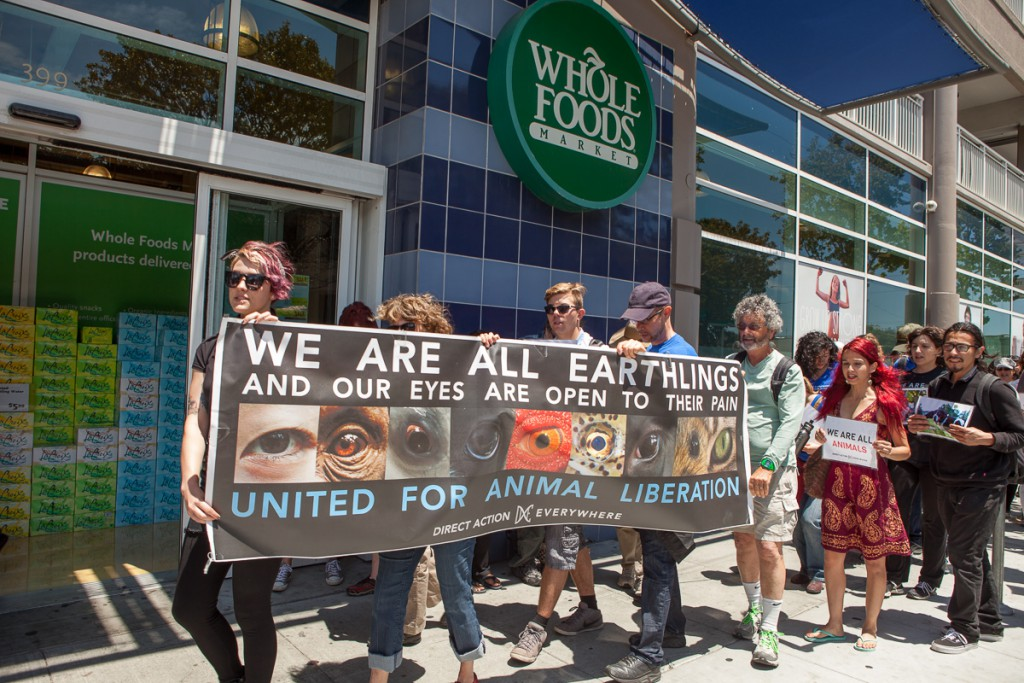 Direct Action Everywhere protest at Whole Foods Market