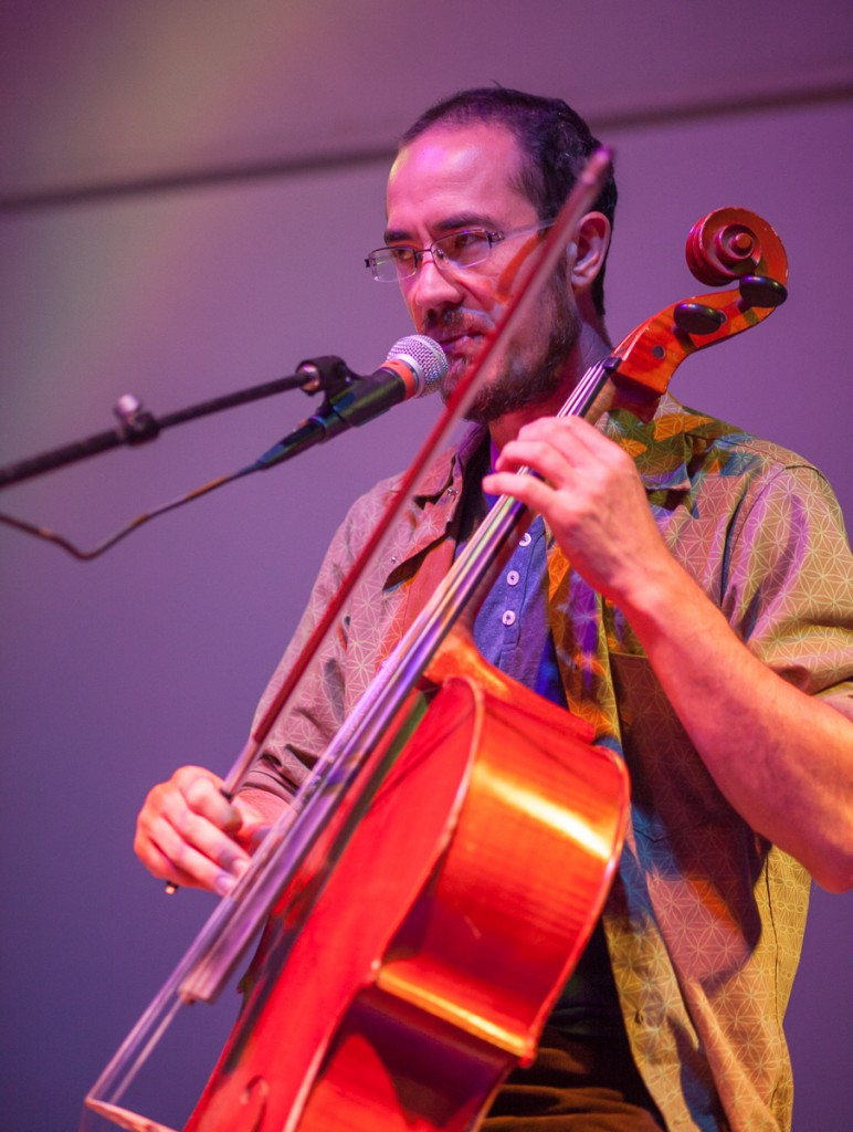 Cello Joe performing at The Art of Survival
