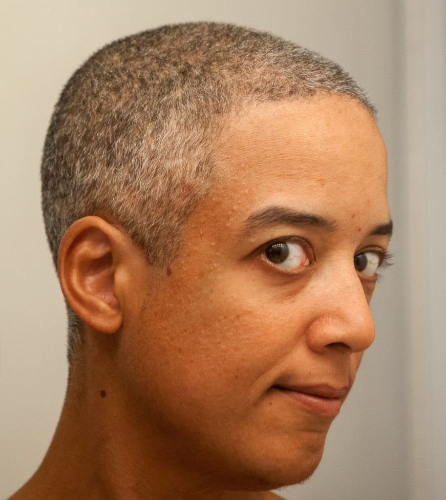Pax with buzzcut