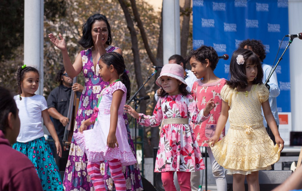 Children dancing at Yerba Buena Gardens Festival