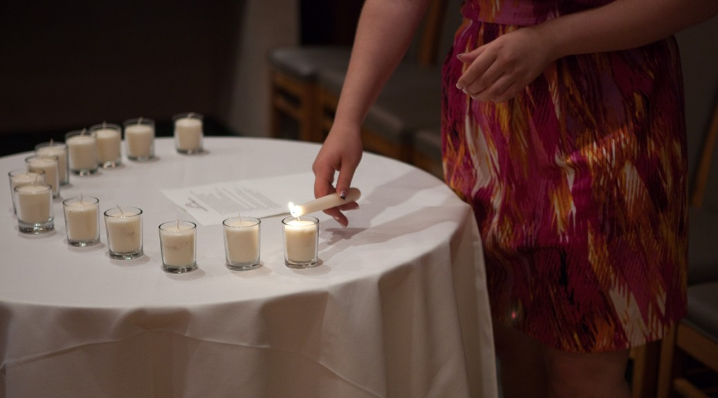 Bat Mitzvah candle lighting