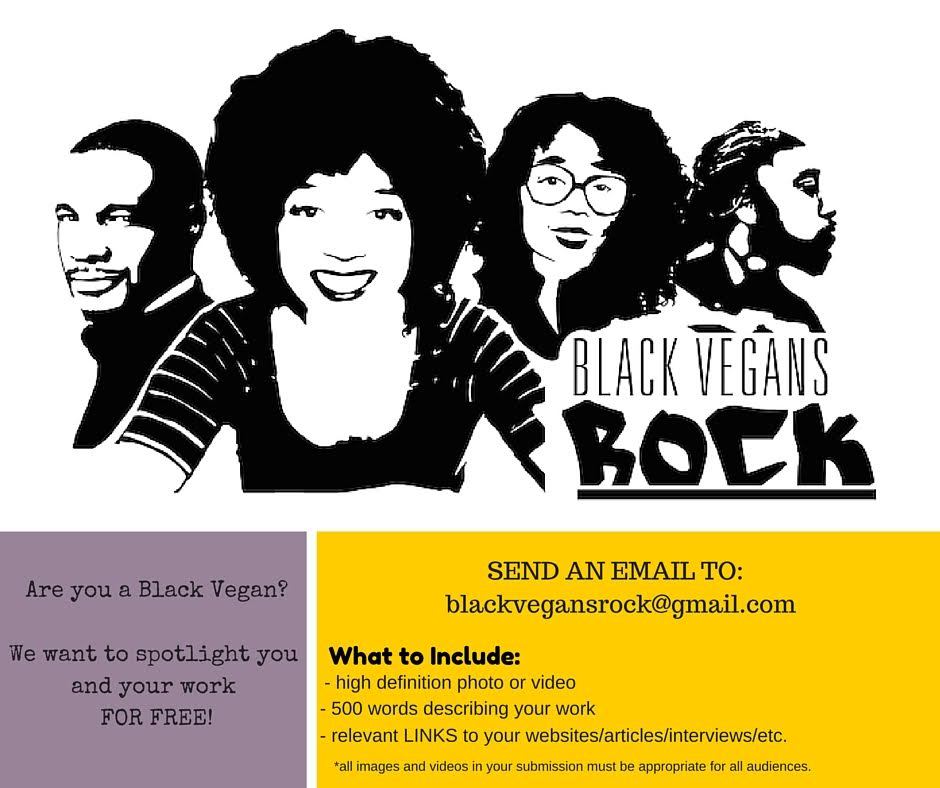 Black Vegans Rock poster