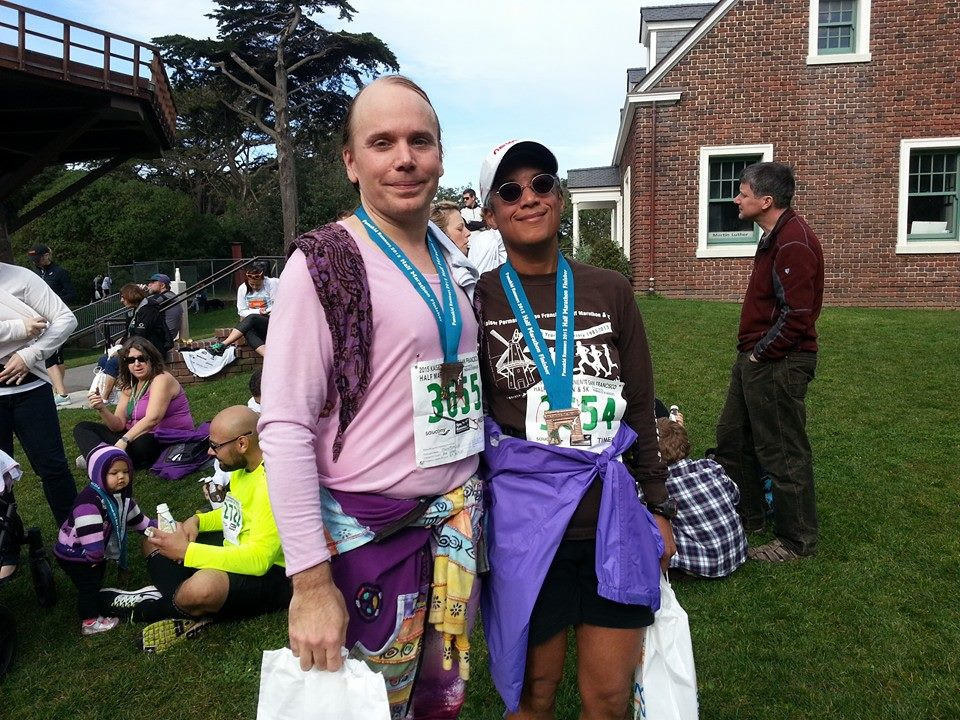 Pax and Ziggy at Kaiser Half Marathon