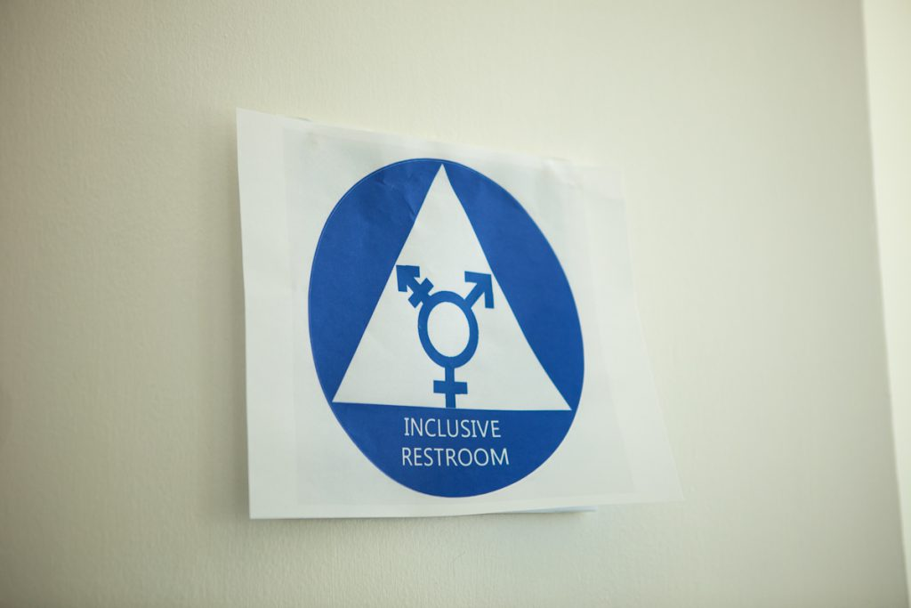 Gender-neutral restroom sign