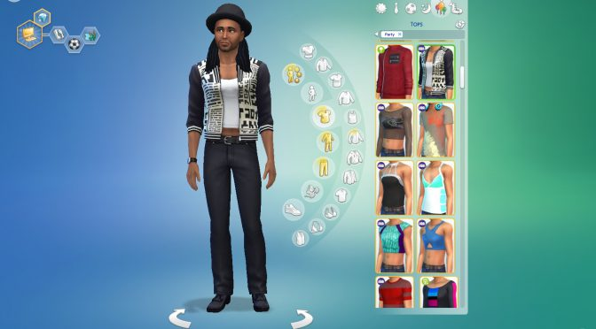 Pax Sim party outfit