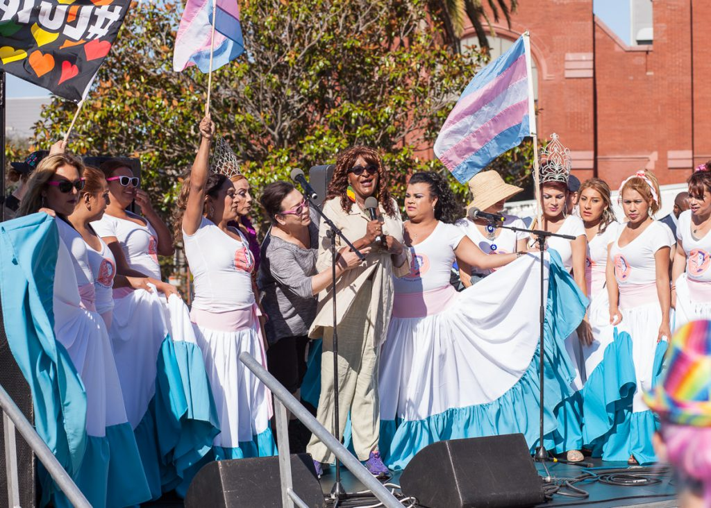 Janetta Johnson at Trans March