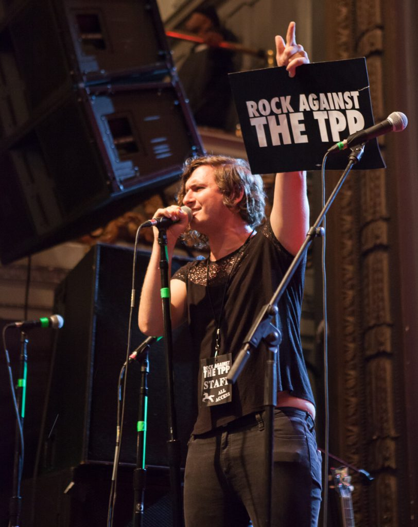 Evan Greer at Rock Against the TPP
