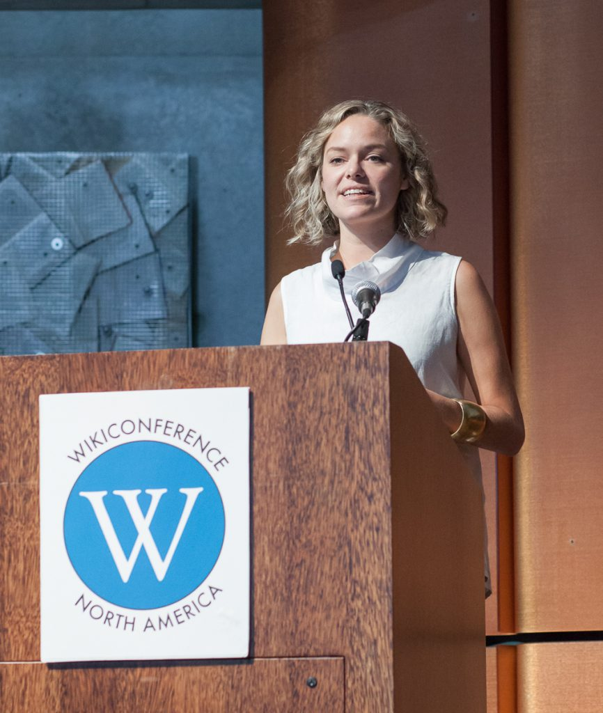 Katherine Maher at WikiConference