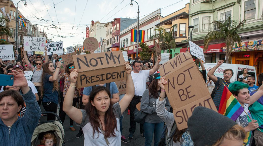 Trump protest in the Castro