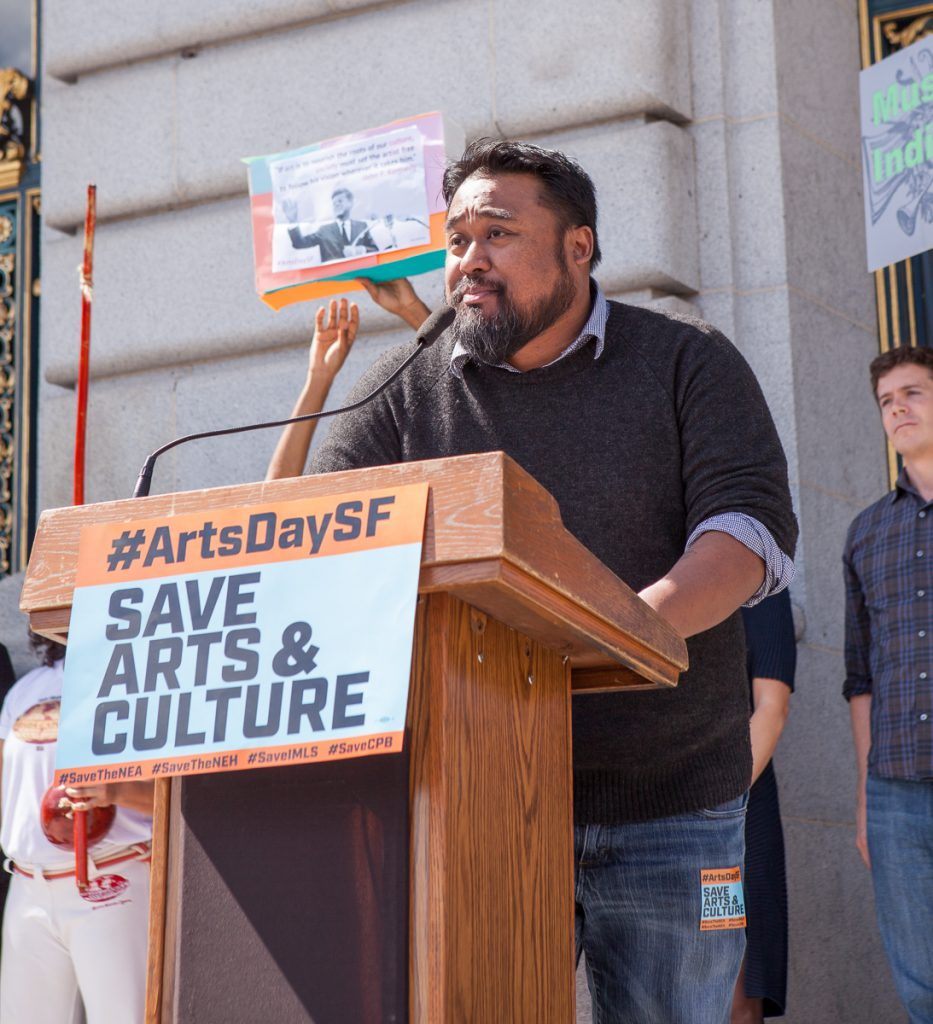 Jason Bayani at SF Arts Advocacy Day