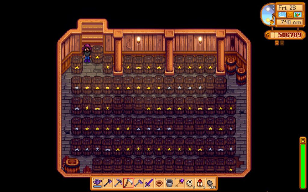 Stardew Valley cellar