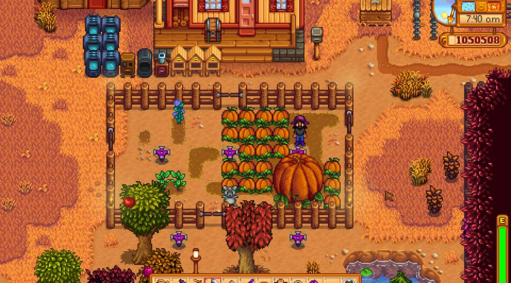 Stardew Valley farm in fall