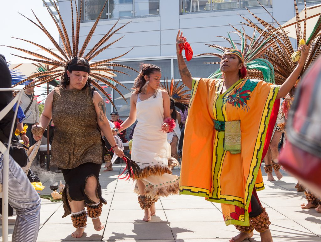 Indigenous dancers at SF LGBT Center