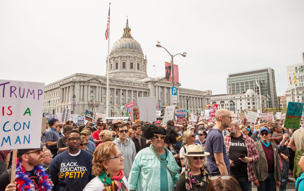 Crowd at Tax March San Francisco