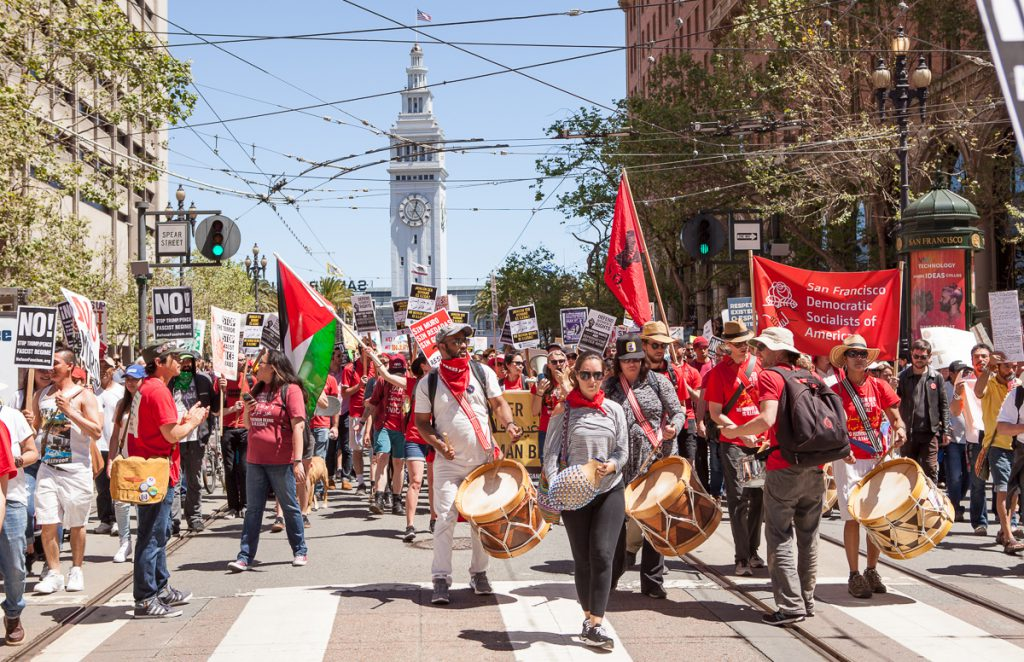 May Day SF protest