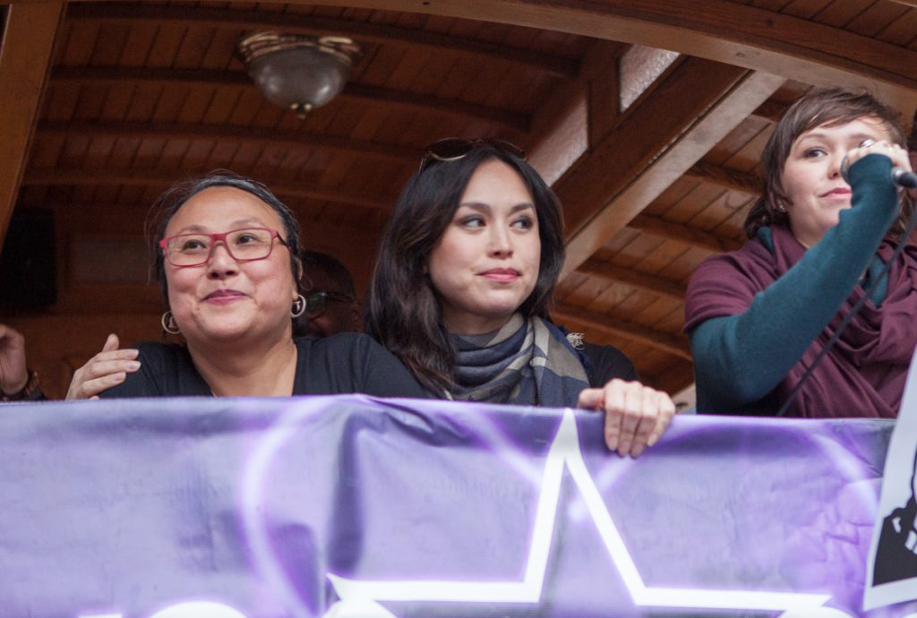 Cecilia Chung and actors at the Trans March